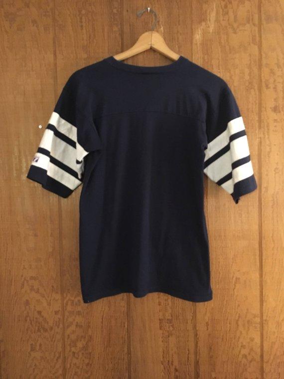 Vintage 90s navy blue   white Dallas Cowboys NFL football ringer T shirt by  Logo 7 1029c3c06