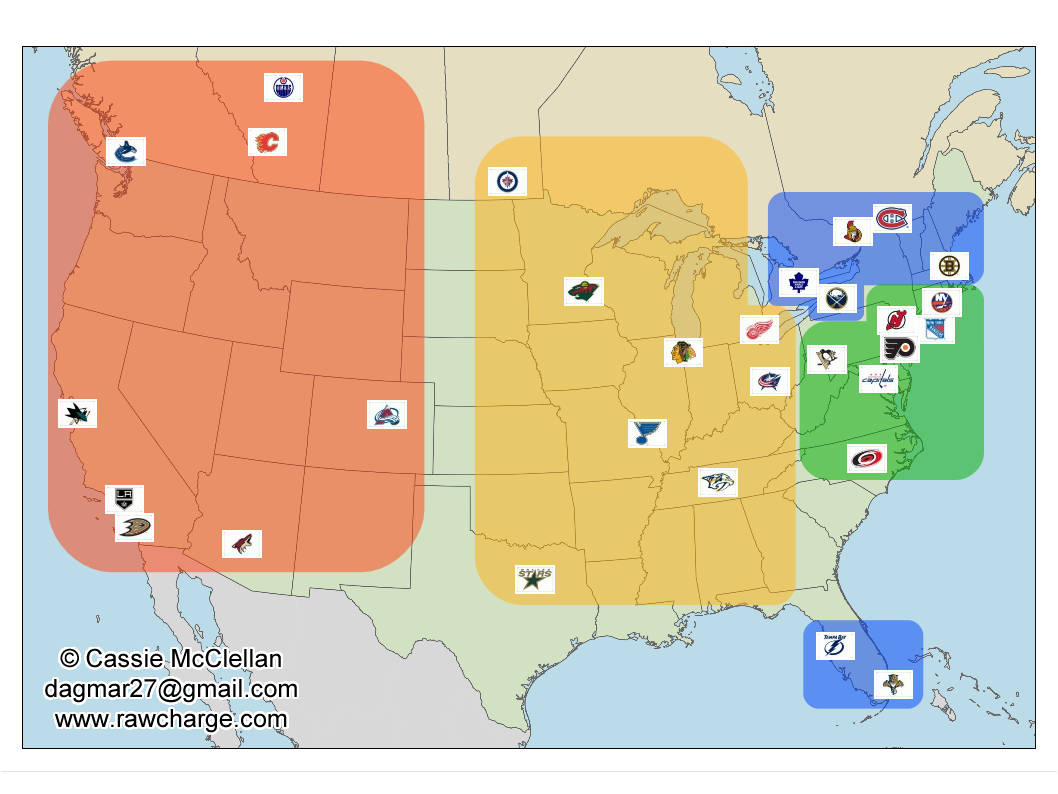 Lightning Maps Map Of Nhl Arenas Isn U0027t That A Spectacular Map Even If I Do