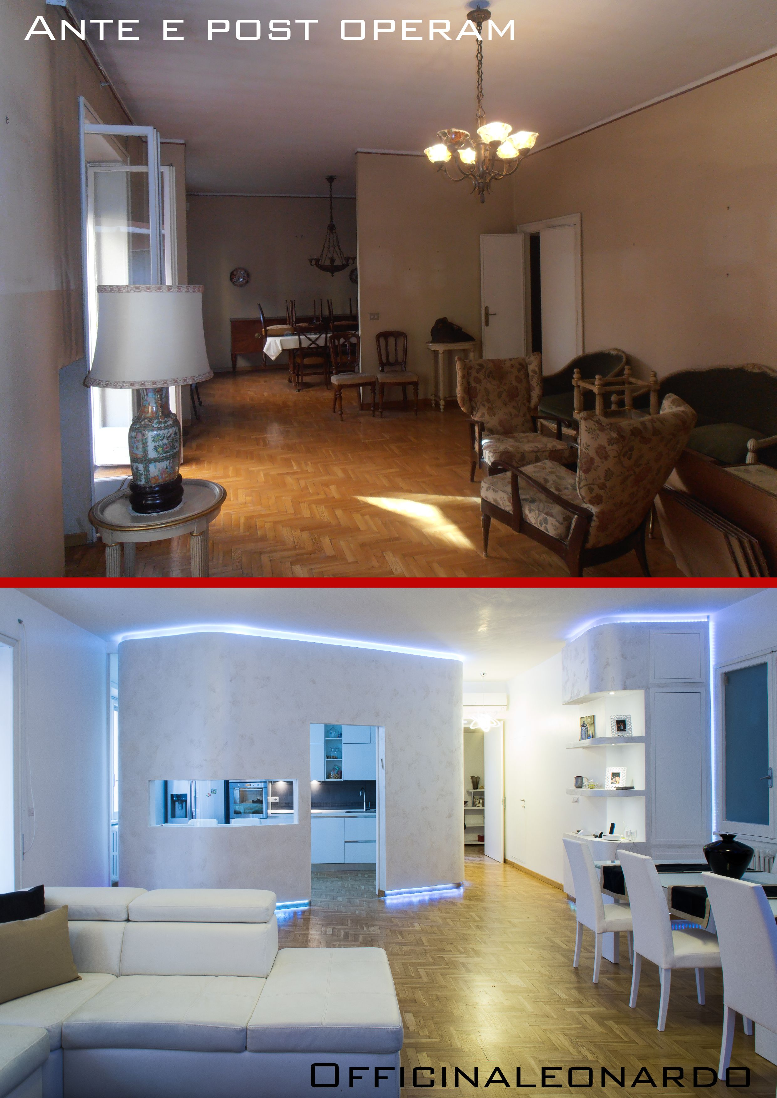 Ristrutturazione appartamento a basso costo.Il salone co ...