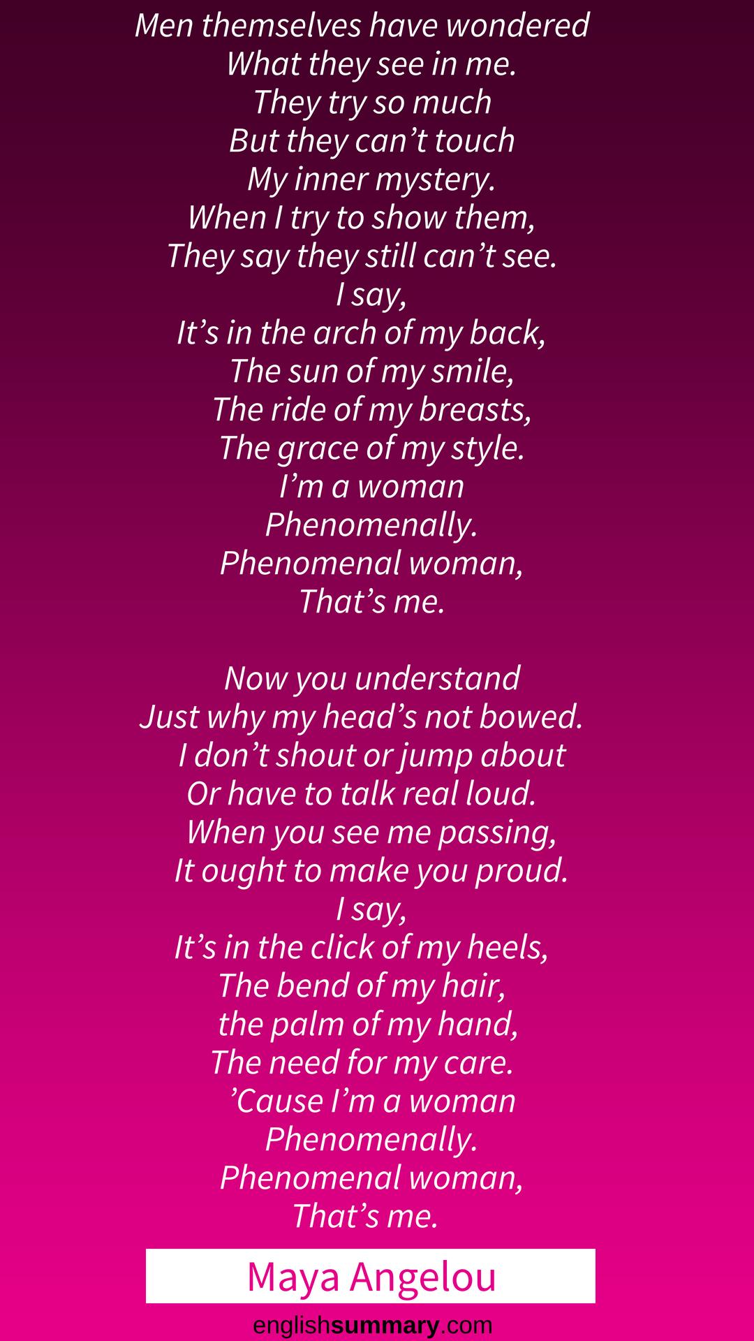Phenomenal Woman Poem