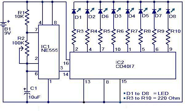 Dancing Light Circuit Diagram Circuit Diagram Electronics Circuit Electronics Basics