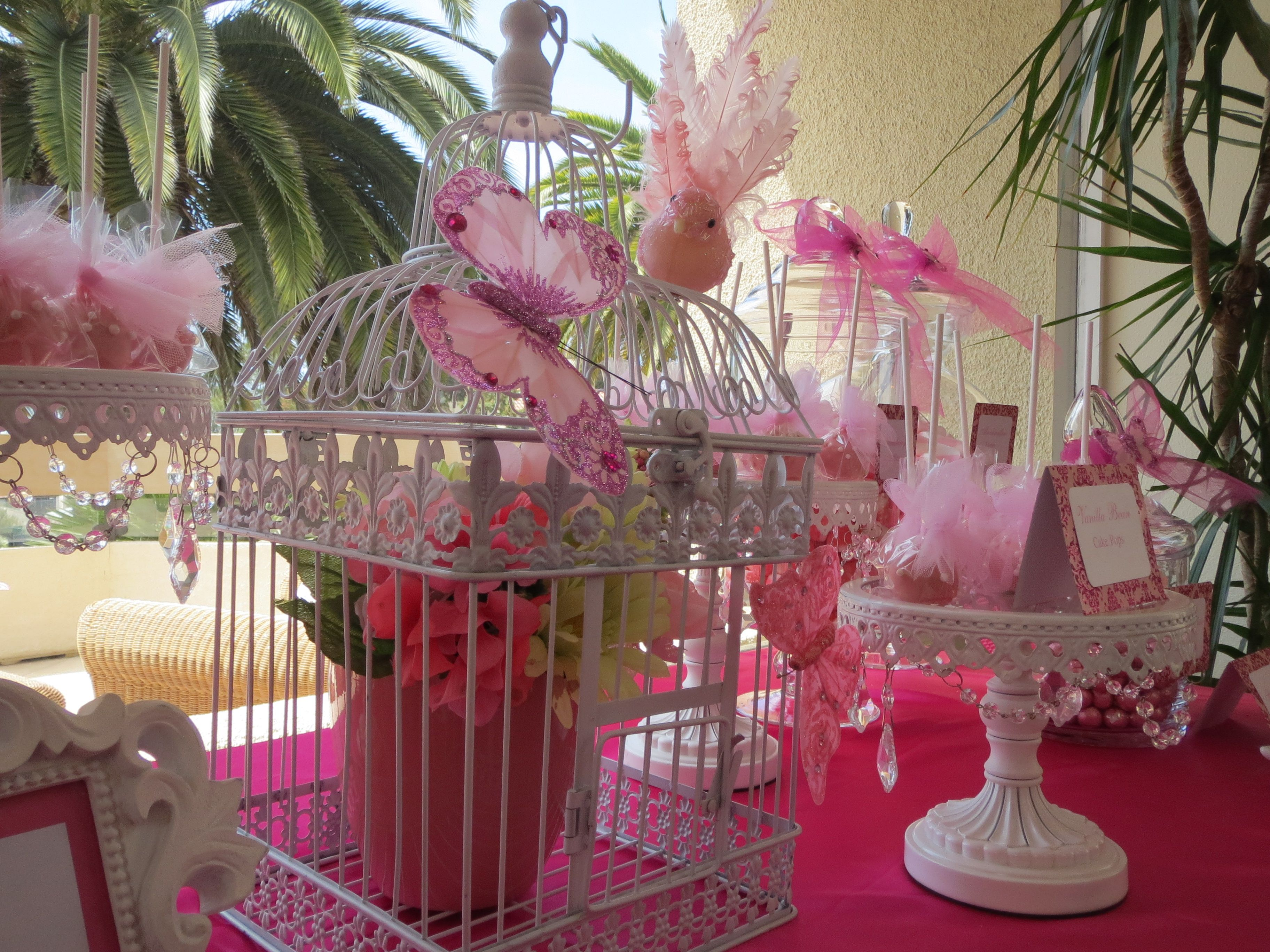 Birdcage Butterflies Candy Table By Oc Sugar Mama Butterfly Theme Candy Table Pink Butterfly