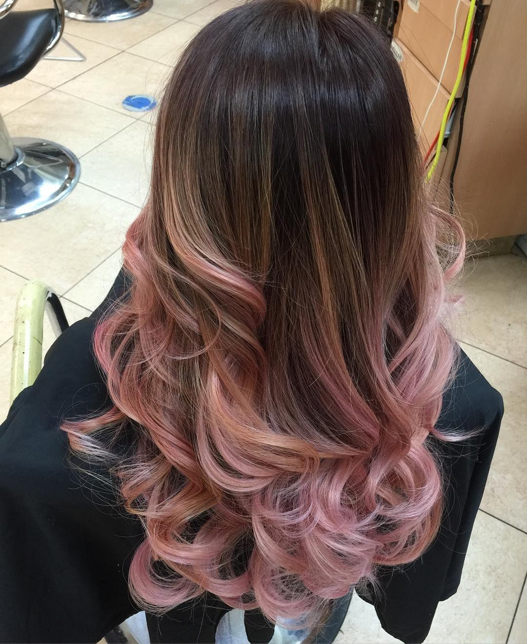 Strawberryswirl Candyhair Mylilpony Behindthechair Modernsalon Colorcorrection Rosegold Rosegoldhair H Balayage Hair Red Balayage Hair Hair Color Pink