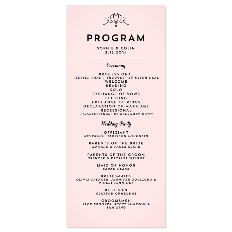 modern wedding program wording - Google Search | Wedding ...