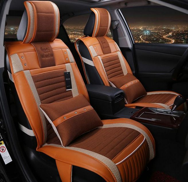 Aliexpress Com Buy Brown Orange Black Beige Leather High Quality New Car Seat Cushion Auto Seats Covers Supports Set Breat Car Seats Car Seat Cushion Leather