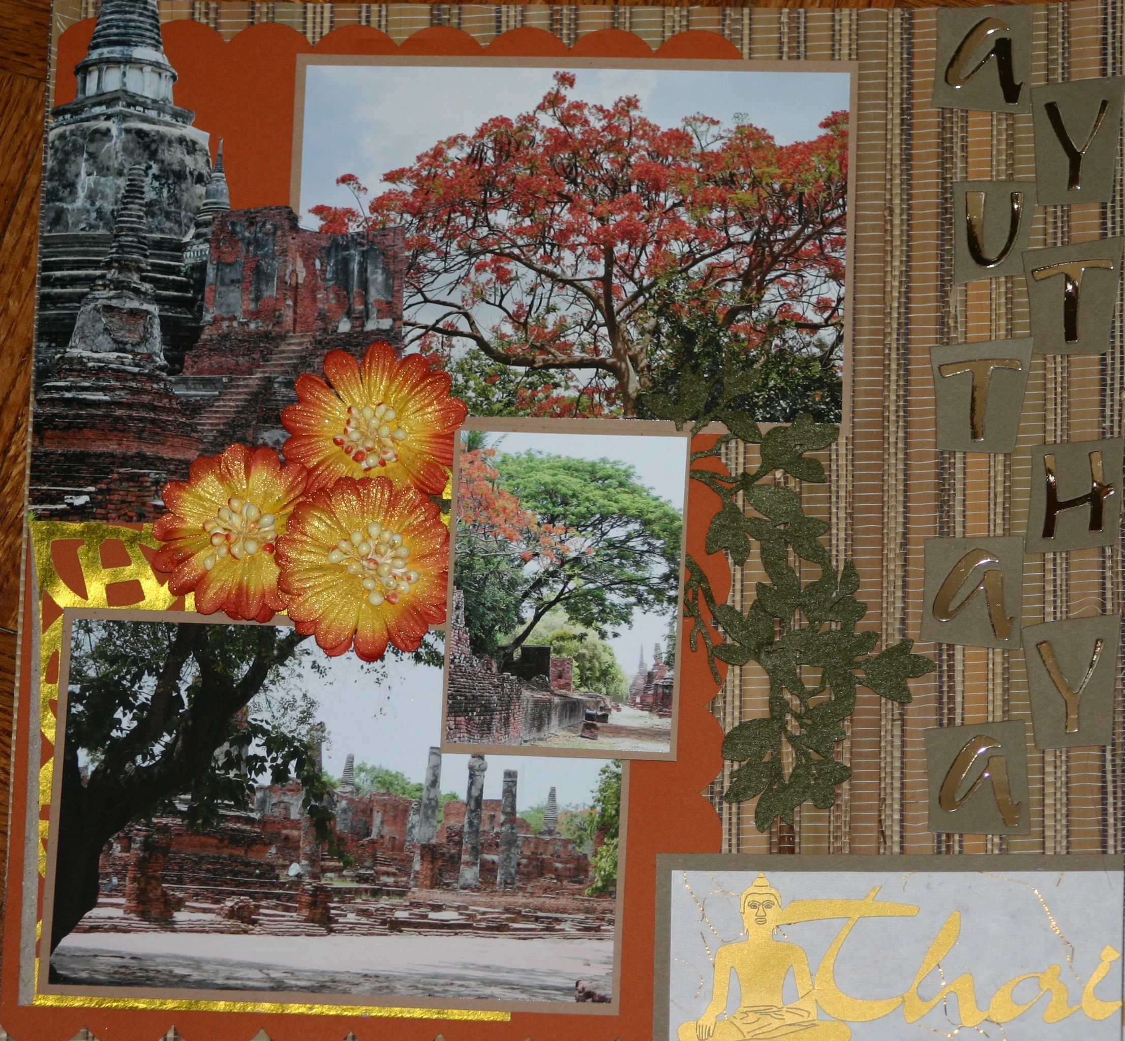 Vietnam scrapbook ideas - Scrapbook Page 1of 2 Thailand Ayuttaya All Products Used Were From Thailand