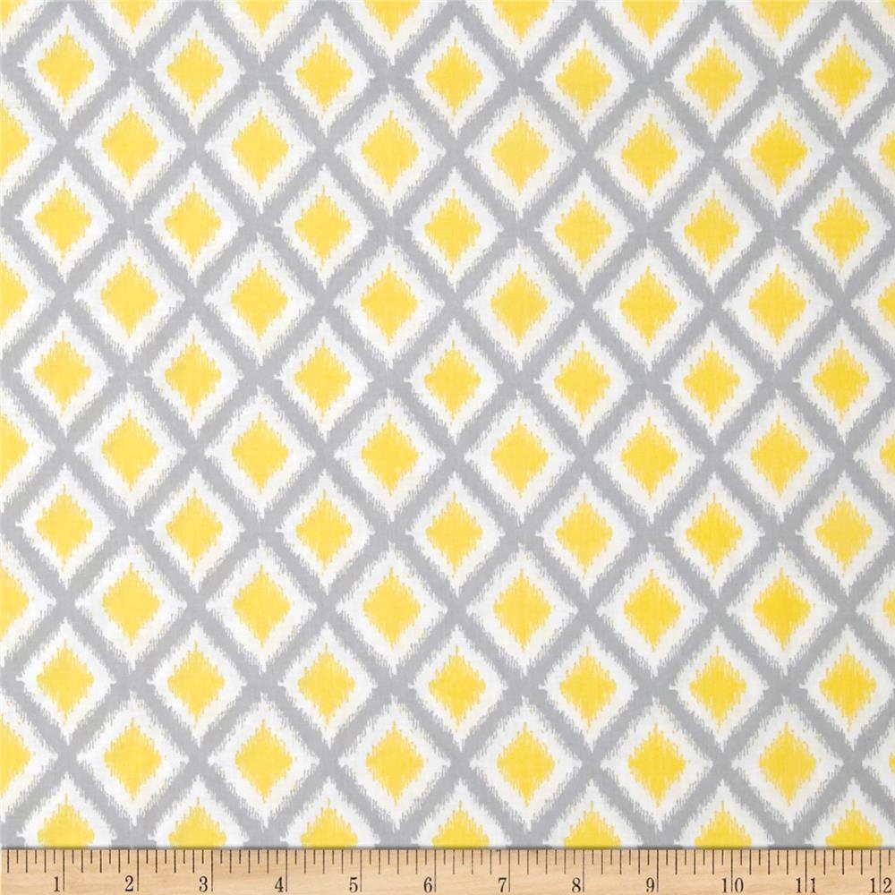 Fabric. [Gray Matters Diamond Ikat Grey/White] | decorating ...