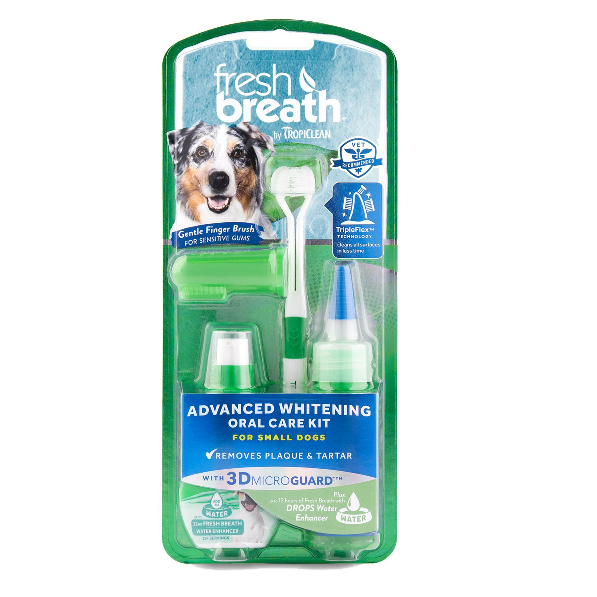 TropiClean® Fresh Breath® Advanced Whitening Small Dog Oral Care Kit #dentalcare