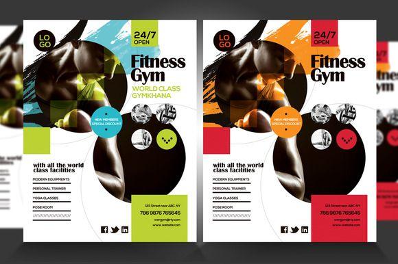 Fitness Gym Flyer V4 – Gym Brochure Templates