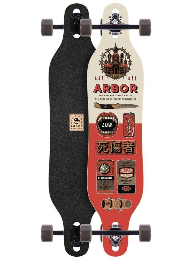Arbor Skateboard Schommer Axis 40 Artist