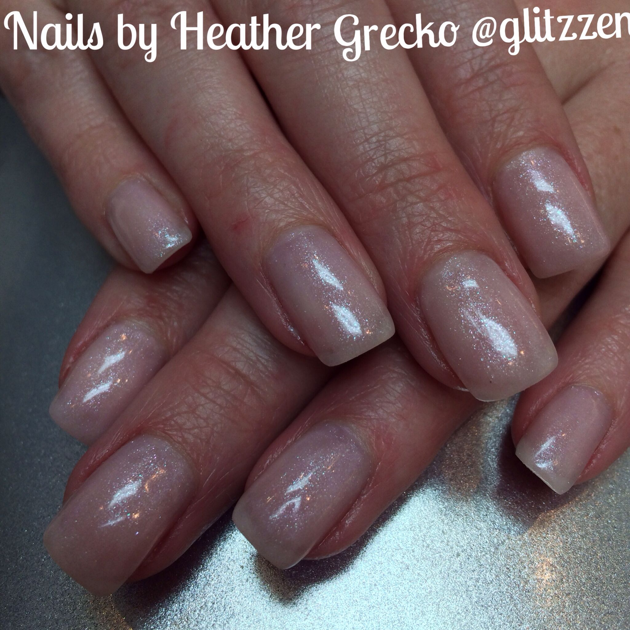 LCN\'s new Glimmer Camouflage gel in Natural Rosé. I used it here as ...
