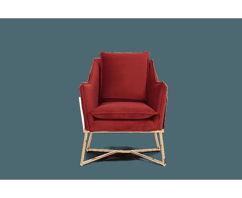 London Red Velvet Accent Chair | Velvet accent chair, Blue ...