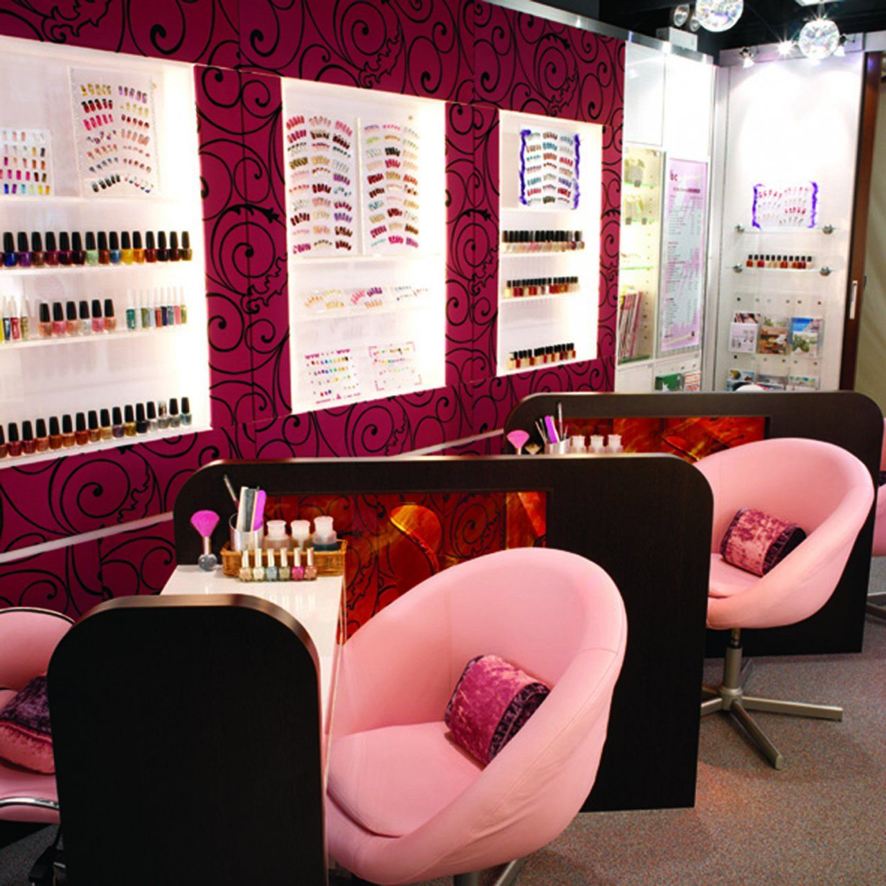 Pink Nail Salon Chairs Chair Covers Thunder Bay Interior Design Ideas Business In 2019