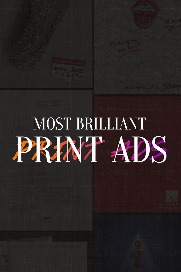 50 Genius Print Ads With Brilliant Design Techniques | Ads, 50th ...