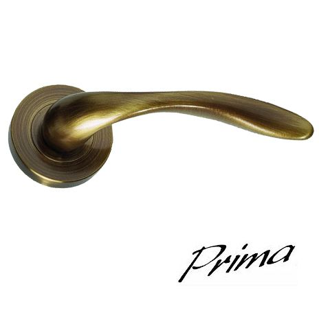 'PEGASUS' ANTIQUE BRASS DOOR HANDLES ON ROSE - XL1263AB (sold in pairs) - PEGASUS' ANTIQUE BRASS DOOR HANDLES ON ROSE - XL1263AB (sold In