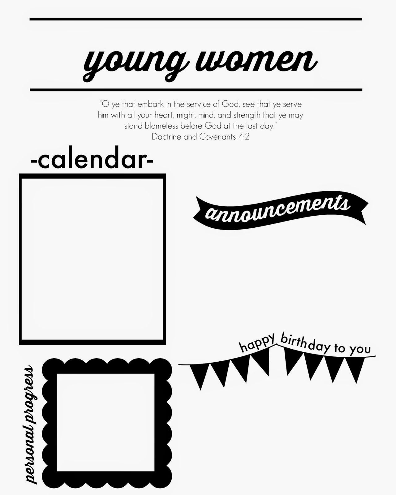 Just Another Day in Paradise: Young Women\'s Monthly Newsletter ...