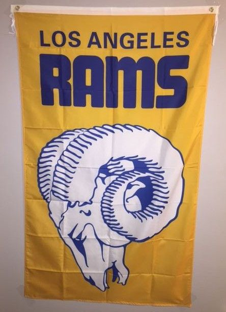 NFL Los Angeles Rams Football 3x5 Banner Flag Mancave Tailgate Indoor Outdoor #LosAngelesRams