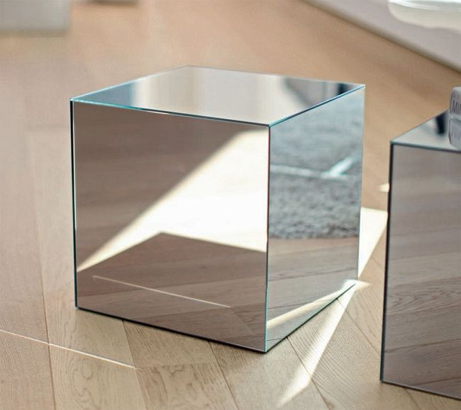 Mirrored Cube Coffee Table