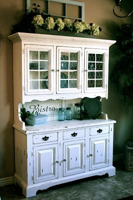 Little Bit Of Paint Hutch Love This Blog DecoratingKitchen Cabinet Top RedoDining Room