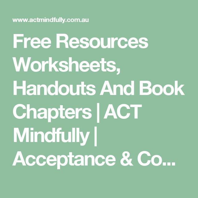 Más de 1000 imágenes sobre Acceptance and Commitment Therapy en ...