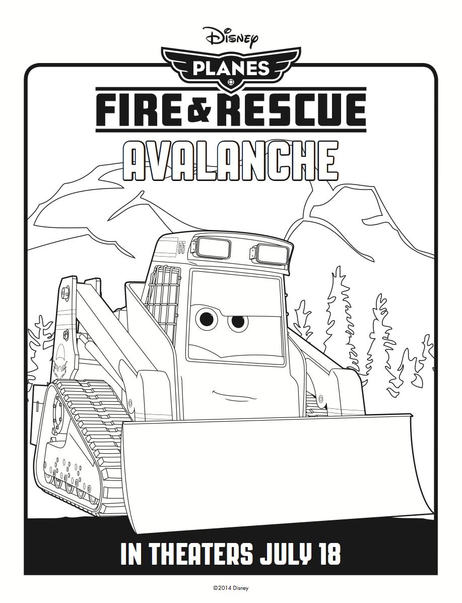 Avalanche Coloring Page Disneys Planes Fire Rescue Pinterest 07e28dc84c1164c392a5093c6305ec2d 235524255487362767 And