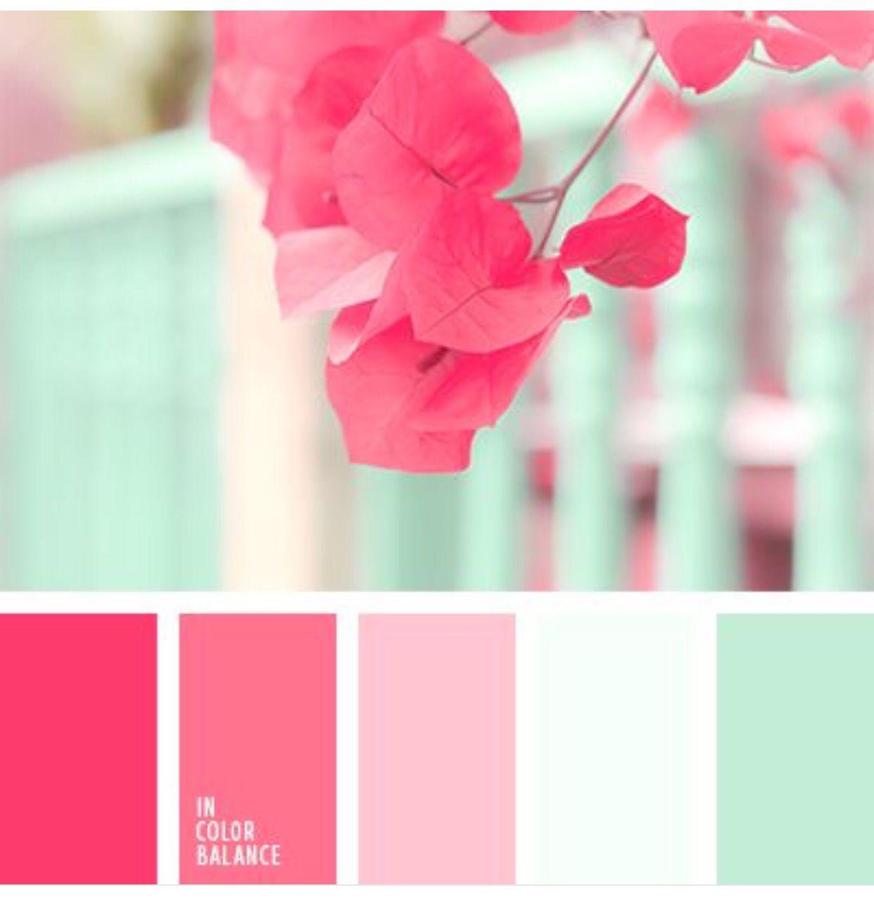 Nursery colours #fushcia #mint #babypink | Colors | Pinterest | Room ...