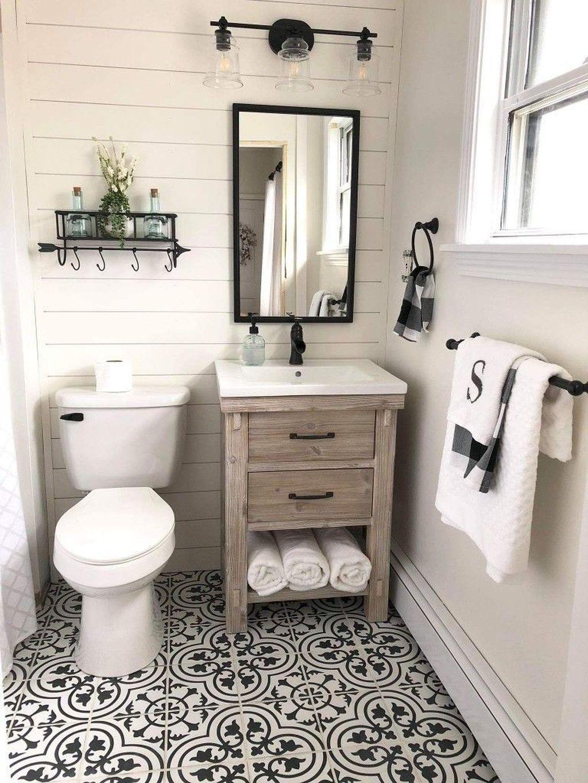 44 Inexpensive Farmhouse Bathroom Decor Ideas Bathroom Farmhouse Style Small Farmhouse Bathroom Bathroom Design Small
