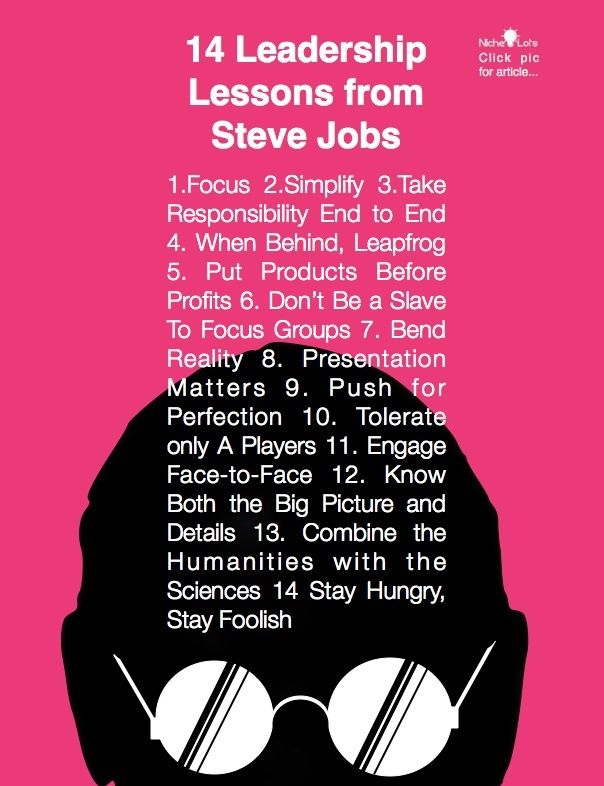 Leadership Lessons From Steve Jobs Thoughts Pinterest