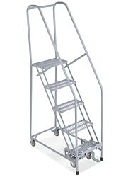 Narrow Aisle Rolling Ladders In Stock Rolling Ladder Ladder Metal Steps