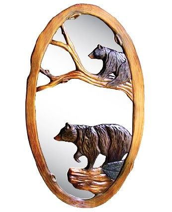 Black Bear Mirror Jhe S Log Furniture Place Projects