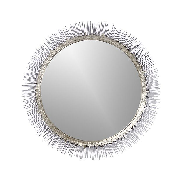 Clarendon Large Round Silver Wall Mirror Reviews Crate And Barrel
