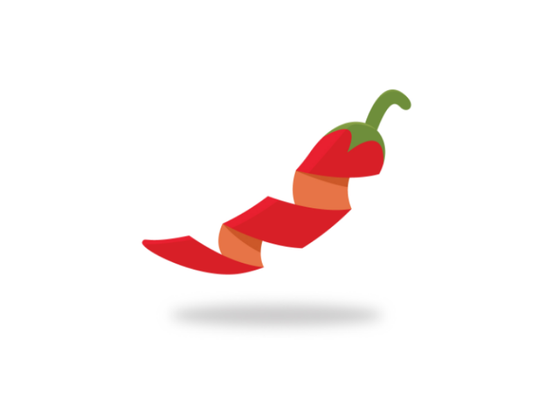 Slice Of The Red Hot Chili Logo Modern Logo Fire Spicy Spice Spiral Snack Restaurant Pepper Hot Food Hot Chili Spicy Spice Red Hot