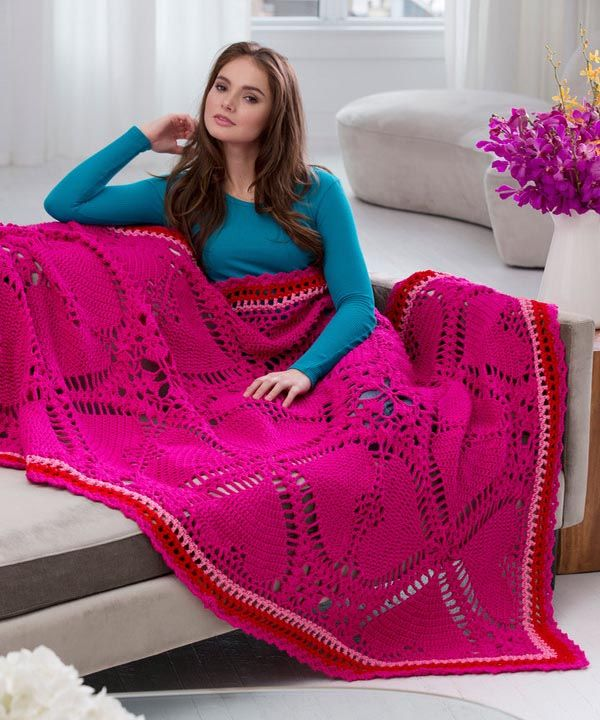 Best Free Crochet » Free Love My Valentine Throw Crochet Pattern ...