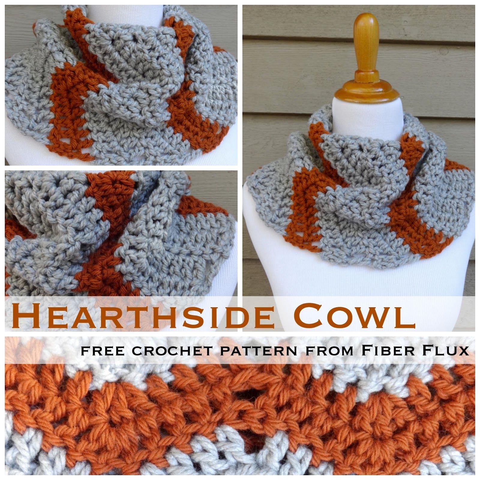 The Hearthside Cowl, a new and free crochet pattern from Fiber Flux ✿⊱╮Teresa Restegui http://www.pinterest.com/teretegui/✿⊱╮