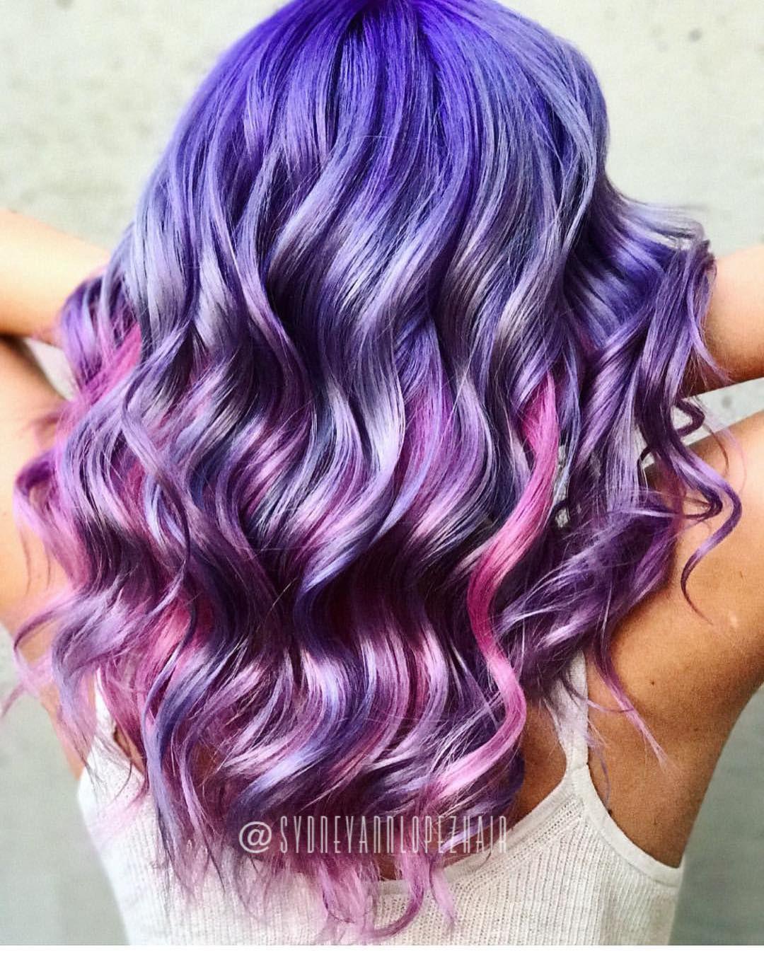 Metallic Cotton Candy Hair Peek A Boo Pink Underneath Modernsalon