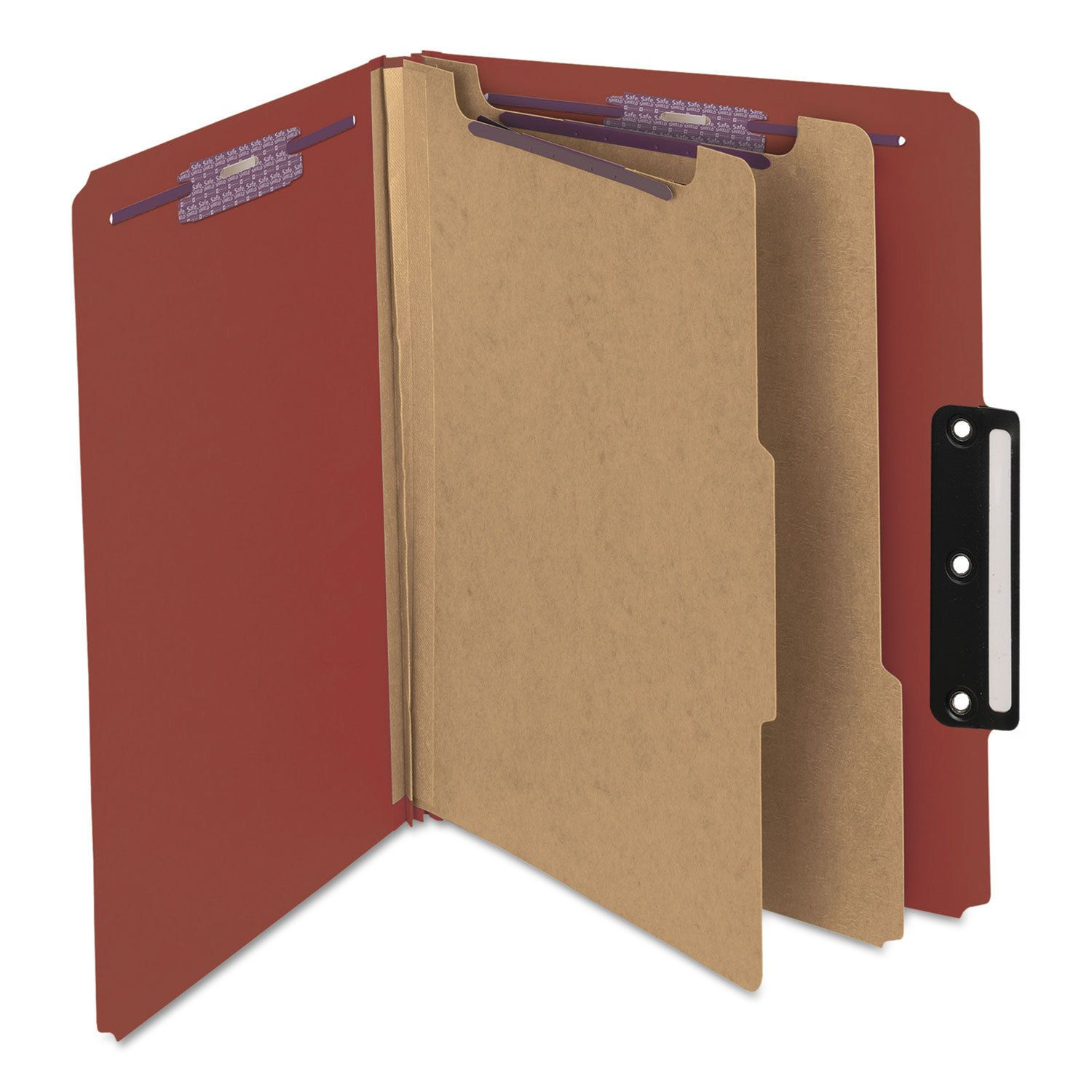 Matte Texture Red Paper 2 Pocket Folders with Prongs RED 50 Pack 50 Pack with 3 Metal Prong Fastener Clips by Better Office Products Letter Size Paper Folders