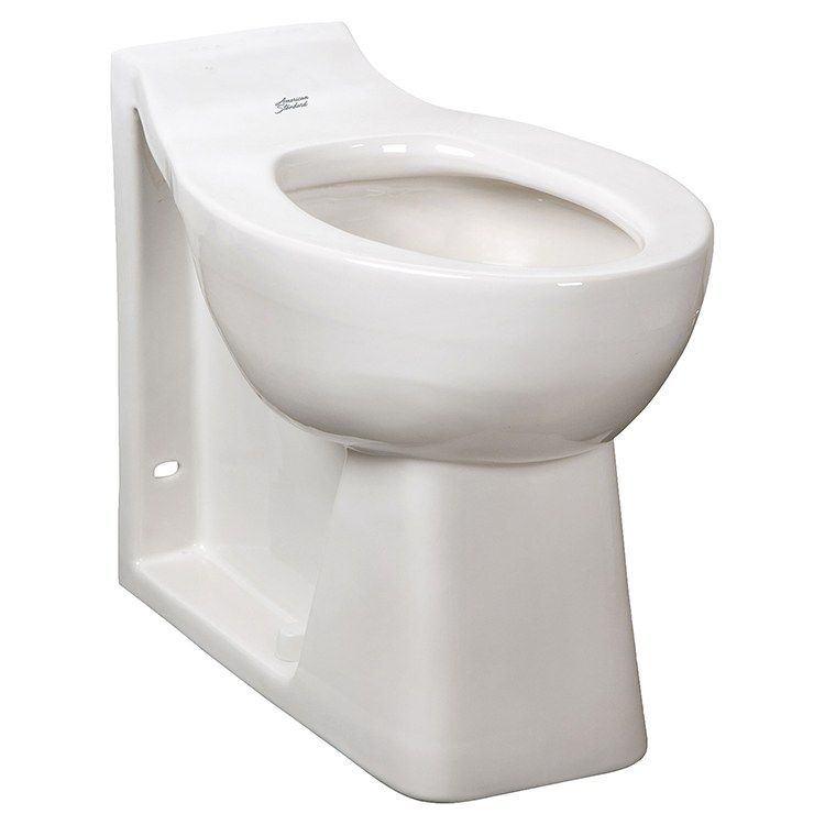 Toilet Bowl Huron Elongated Back Spud With Integral Seat Everclean White Ada 17 1 8 Inch 1 28 To 1 6 Gallons Per Flush Toilet Bowl American Standard Toilet