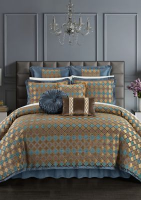 Chic Home  Sue Bed In A Bag Comforter Set - Blue - King
