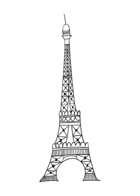 Eiffel Tower Drawing Poster Eiffel Tower Drawing Eiffel Tower Tower