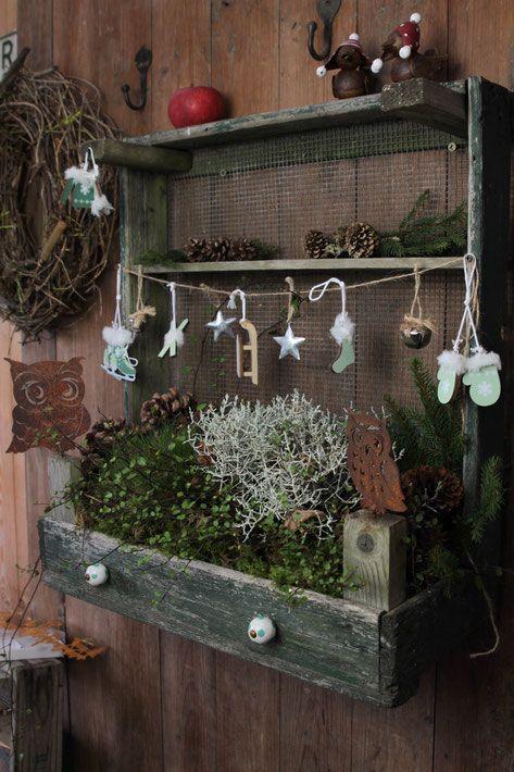 Weihnachtsdekorationen, Deko im Landhausstil für die Weihnachtszeit