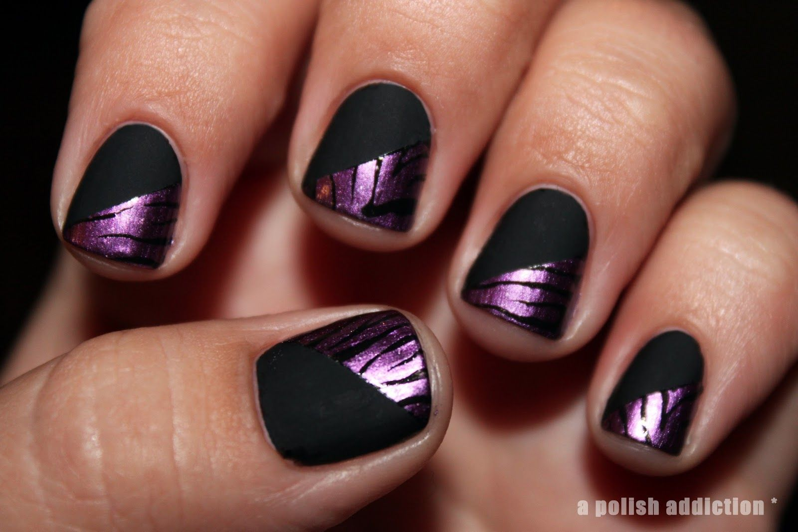 Purple Nail Polish Designs | started with my opi base coat two coats ...