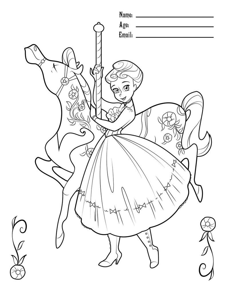 MaryPoppinsCarouselColoring by BetterthanBunnies on DeviantArt ...