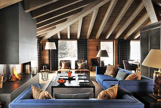 Nicky dobree interior designer design luxury ski chalet residential interiors contemporary residen also rh pinterest