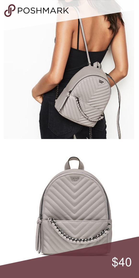f0d4046e5fc4 VICTORIA S SECRET Small City Backpack Pebbled V-Quilt