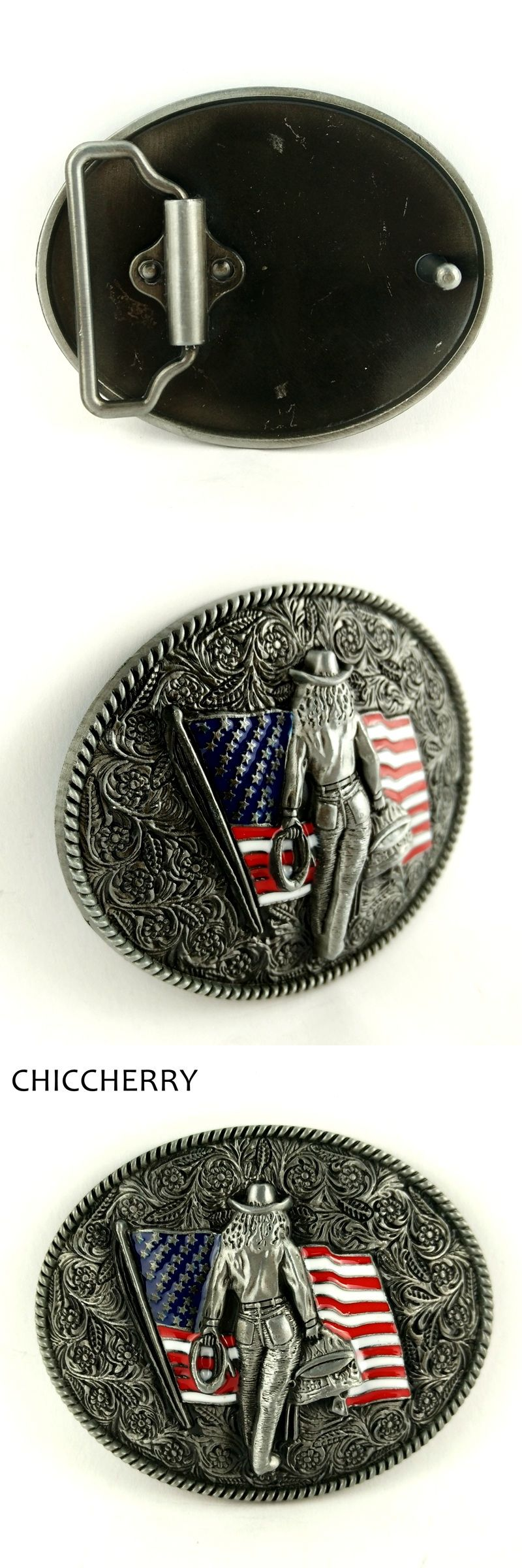 f1f688e2f941 Cool Male Accessories Vintage Floral American Flag Belt Buckles Metal  Western Country Cowboy Boucle De Ceinture