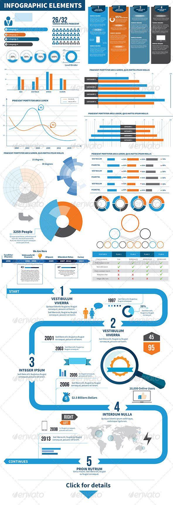 Infographic Elements Statistics Tableau statistique