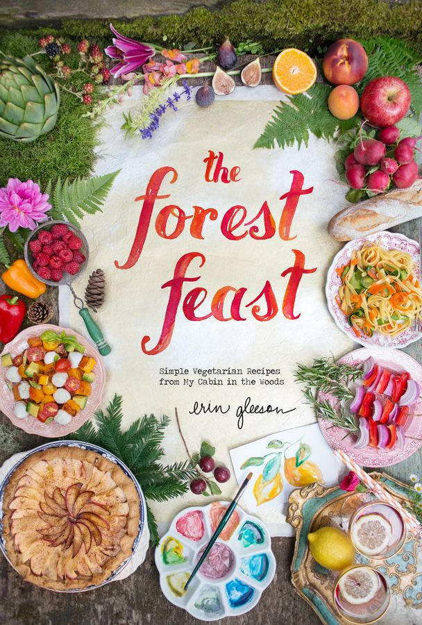 This girl moved from New York to Northern California. She used to be a food photographer and now she makes fresh new recipes and she takes all the pictures. She also watercolors each page. So cute and the recipes are to die for!