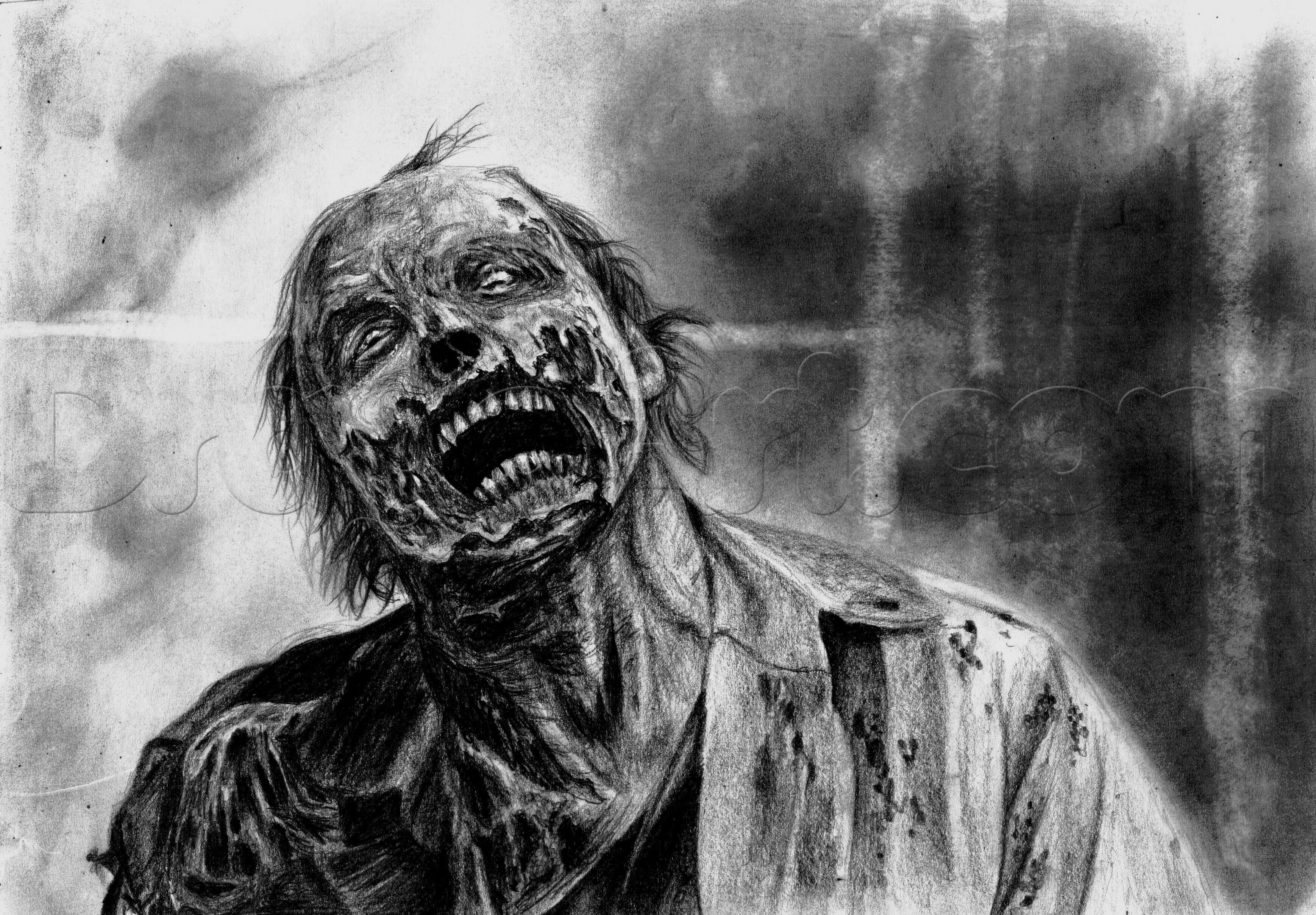 How to draw a realistic zombie zombie drawings drawings