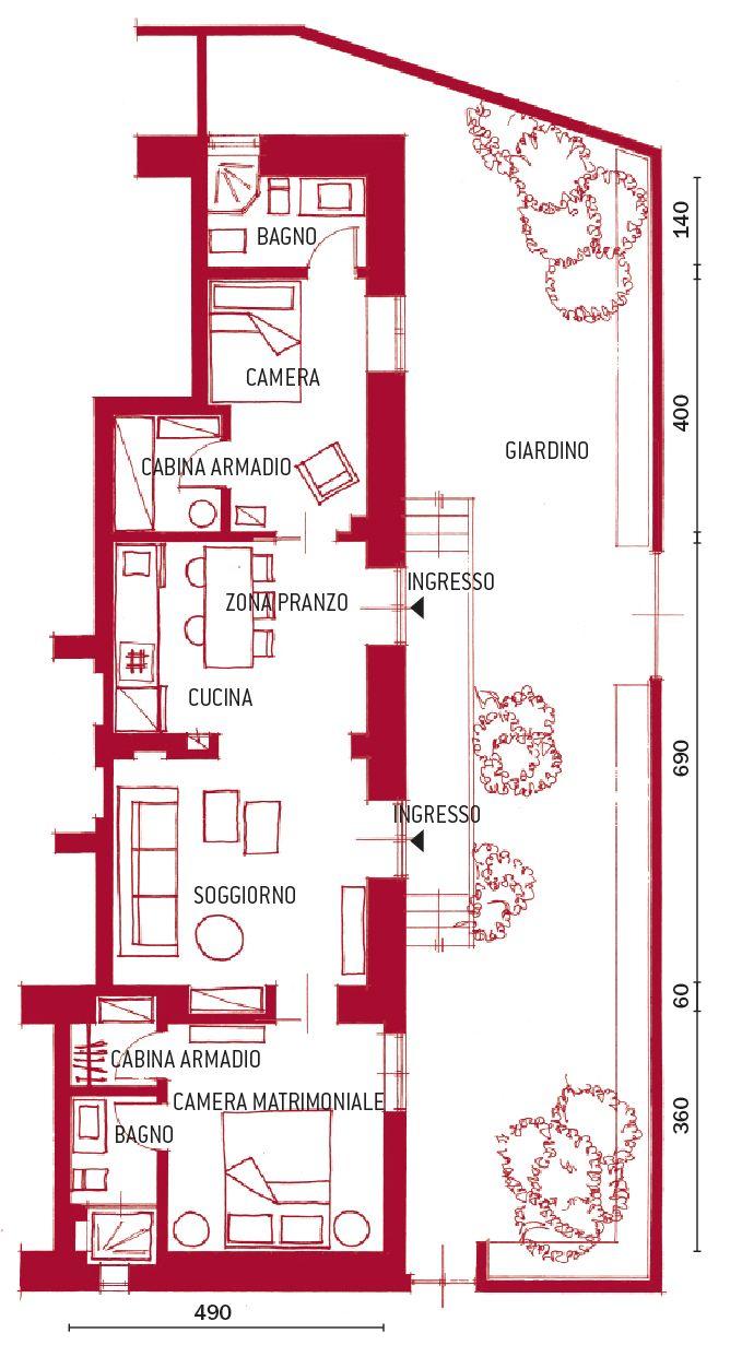 Armadio Casa Al Mare casa al mare: in 65 mq 2 camere, 2 bagni e 2 cabine armadio