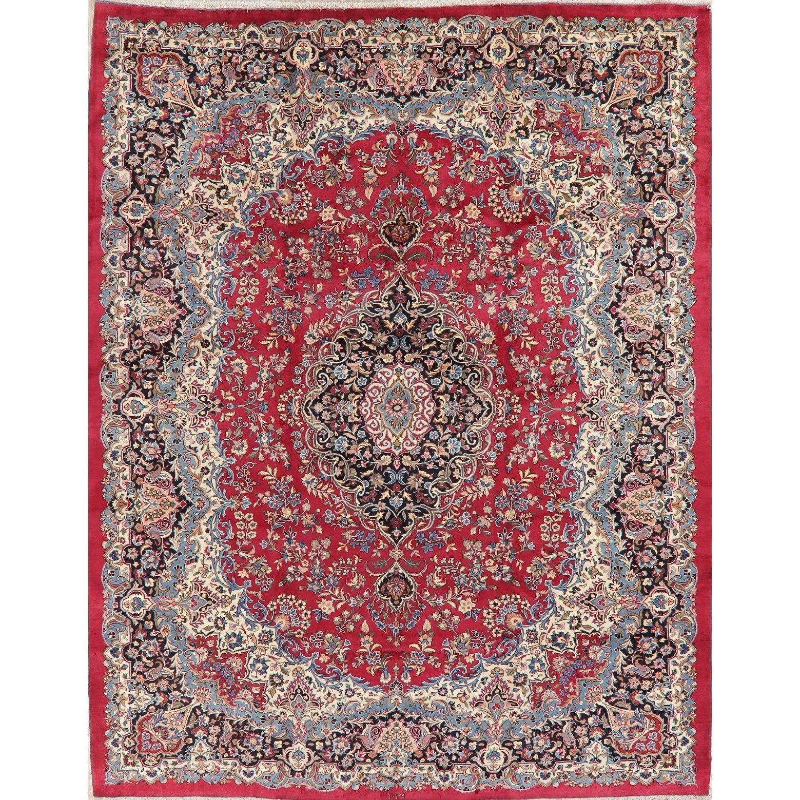 Refurbished Decorative Floral Red Kerman Persian Area Rug Handmade Oriental Carpet 9 10 X 12 5 9 10 X 12 5 Red Wool Floral Botanical In 2019 Rugs Handmade Rugs Room Carpet